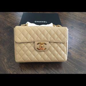 Rare Chanel Classic Vintage flap caviar